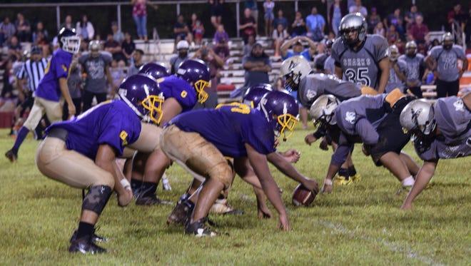 The George Washington Geckos and Simon Sanchez Sharks faced off in IIAAG High School Football action on Friday night.