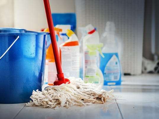 Cleaning products.