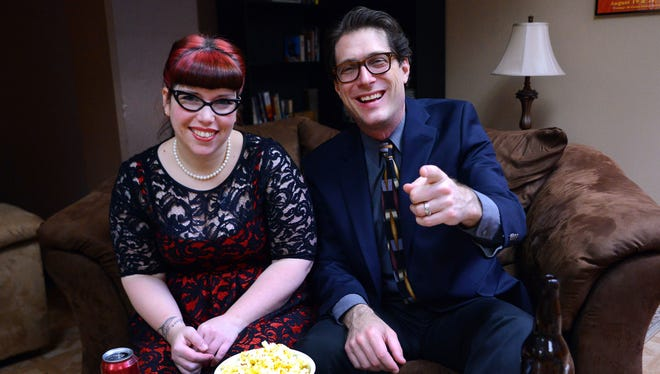 Carlee Wright and Tom Mayhall Rastrelli prepare for their Oscar party on Wednesday, Jan. 28.