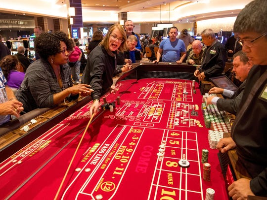 The craps table at Tropicana Evansville soon after it opened for the first time.