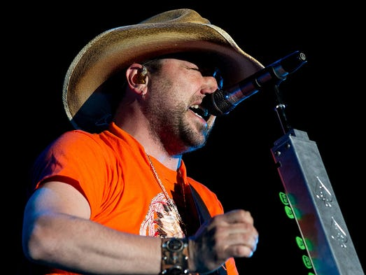 Jason Aldean performs in the Mane stage during Stagecoach California's Country Music Festival held at Empire Polo Club in Indio on Saturday, April 26, 2014. Photo by Gerry Maceda, Special to The Desert Sun