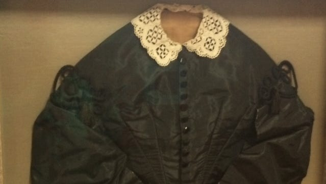 This black silk jacket was worn by Mary Field Elmore, the wife of Andrew Elmore, sometime in the mid-1850s.