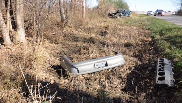 Police responded to a single-vehicle accident Sunday morning.
