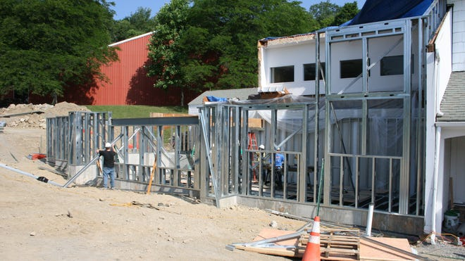 Construction of a new science wing begins at Dutchess Day School in Millbrook.