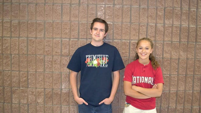 Congratulations to Capitan High School sophomore:  Sterling Violette and freshman McKenzie Nunez for being chosen as  the Capitan PTA students of the month for April.