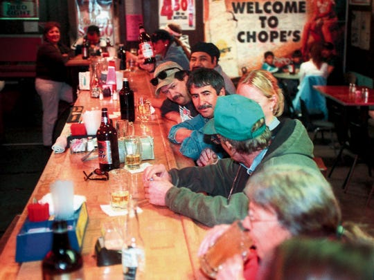 Patrons came from across southern New Mexico to enjoy a drink at Chope's Bar, located in a building next door to the La Mesa restaurant.