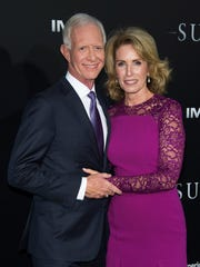 "Chesley ""Sully"" Sullenberger and his wife, Lorrie Sullenberger, at the New York premiere of 'Sully' on Sept. 6."