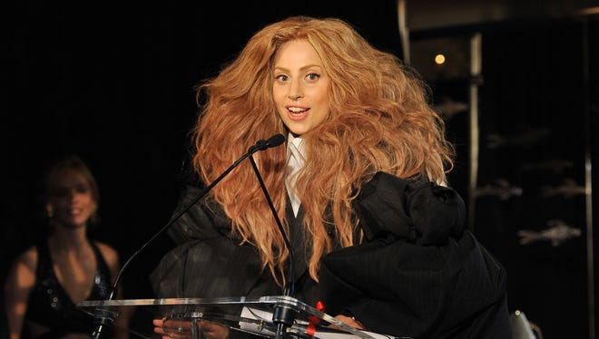 Lady Gaga speaks at The Daily Front Row's Fashion Media Awards   in New York City.