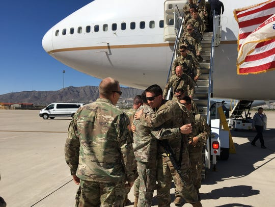 About 100 soldiers from 1st Brigade returned from Afghanistan