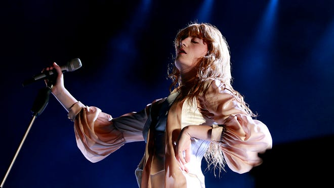 Florence + the Machine perform at Ak-Chin Pavilion in Phoenix on Tuesday, Oct.13, 2015.