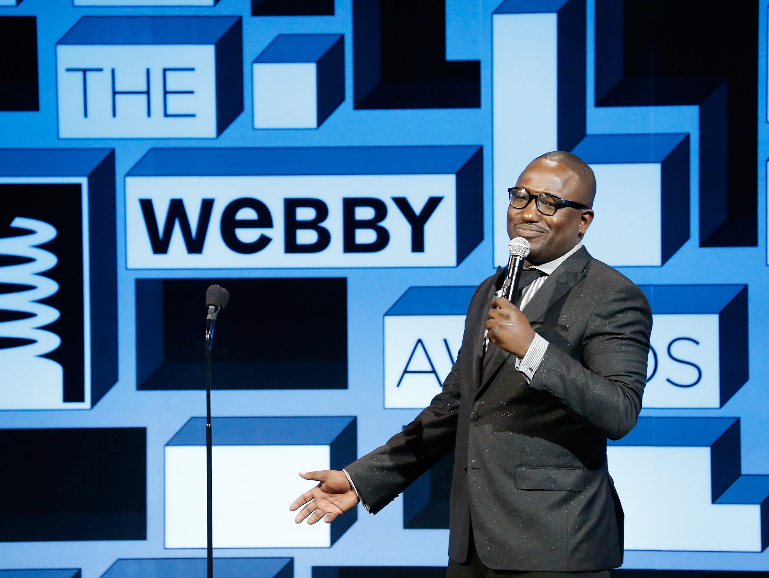 Comedian Hannibal Buress hosts the 19th Annual Webby Awards in New York.