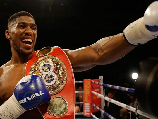 Anthony Joshua owns the WBA, IBF and WBO championship