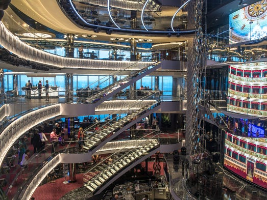 The first thing guests see upon embarkation is MSC