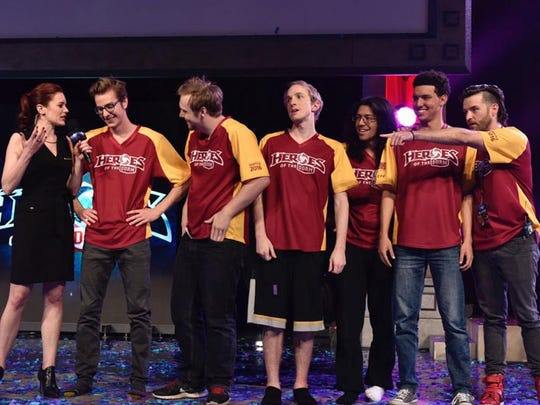 Arizona State University's Real Dream Team beat the University of Texas Arlington in the Heroes of the Dorm grand final e-sports competition. The win earns the team free tuition for the rest of their college careers.