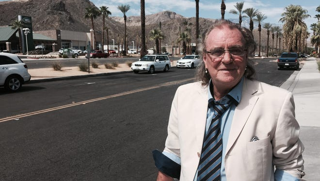 British rocker Terry Reid, hanging out on the streets of Rancho Mirage, will perform Saturday at the Purple Room in Palm Springs