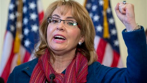 Former Rep. Gabby Giffords, D-Ariz., speaks on Capitol Hill in Washington, Wednesday, March 4, 2015, about bipartisan legislation on gun safety.