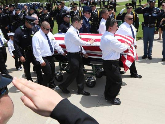 AP POLICE SHOOTINGS DALLAS FUNERAL A USA TX