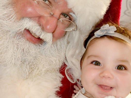 George Ubertaccio of Chatham Township as Santa Claus.