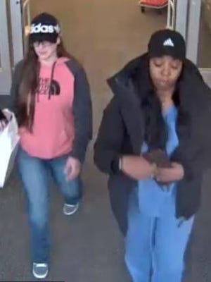 These two women are wanted for stealing items from the Cherry Hill Mall on March 22, police say.