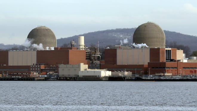 The Indian Point Energy Center nuclear power plant in Buchanan as seen from across the Hudson River in Tomkins Cove Jan. 10, 2017.