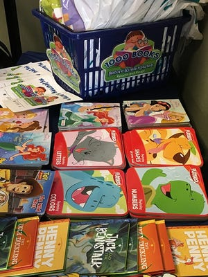 Children's books for a New Castle County early childhood reading initiative.