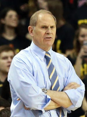 Michigan Wolverines head coach John Beilein watches the action against the Maryland Terrapins at Xfinity Center.