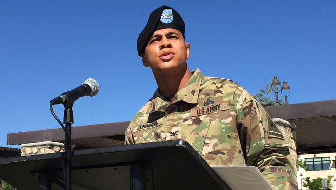 """Col. James Jennings, commander of the 1st Armored Division Sustainment Brigade, calls his soldiers """"amazing"""" as he recounts their accomplishments during their recent deployment to Afghanistan."""