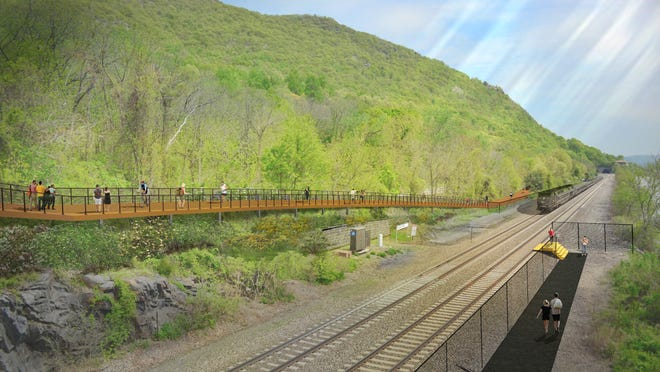 A rendering of the Hudson Highlands Fjord Trail.