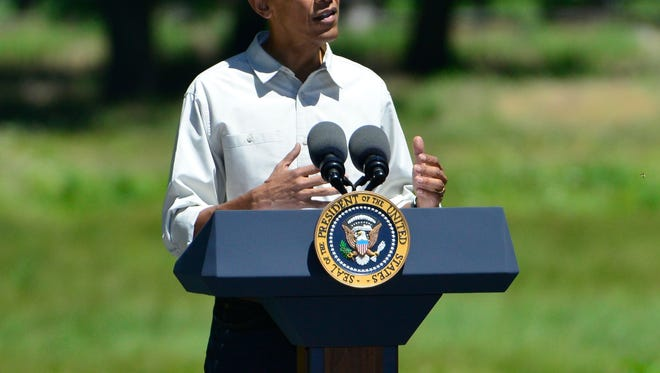 President Barack Obama spoke Saturday morning in Yosemite National Park on the efforts of conservation and preservation as the 100th anniversary of the national parks approaches in August.