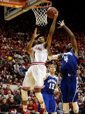 IU is known for its 3-point shooting but getting points in the paint, as guard James Blackmon Jr. did here vs. New Orleans, is the key to the offense.