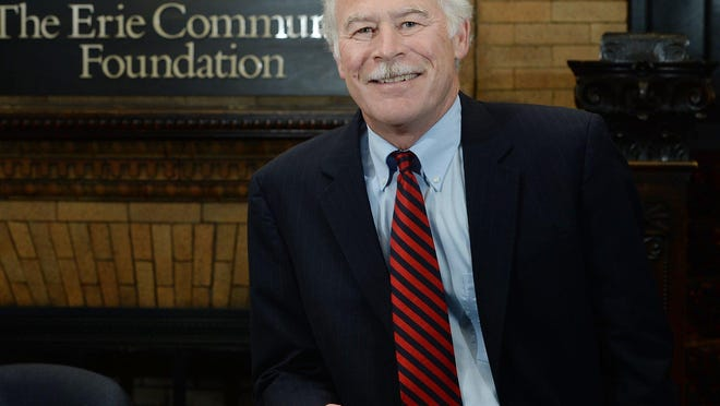 Michael Batchelor, president of The Erie Community Foundation, was awarded the Nonprofit Partnership's inaugural Lifetime Achievement Award.