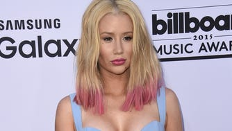 Iggy Azalea attends the Billboard Music Awards on May 17, 2015, at the MGM Grand Garden Arena in Las Vegas.