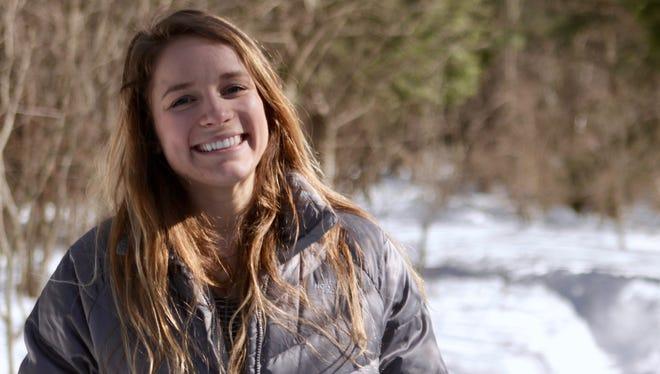 Binghamton University senior and Wingdale resident Sarah Haley poses at the Binghamton University nature preserve March 17, 2017.
