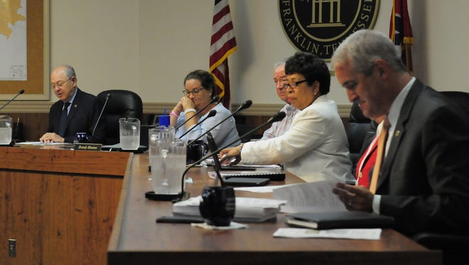 The Franklin Board of Mayor and Alderman voted unanimously Tuesday night to approve a property tax increase for infrastructure and development dedication.