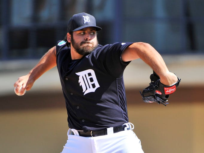Tigers pitcher Michael Fulmer works in the fourth inning.