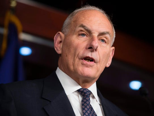Secretary of Homeland Security John Kelly speaks about