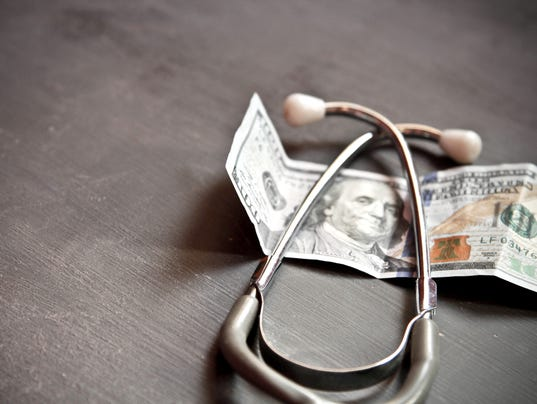 Money and healthcare concept