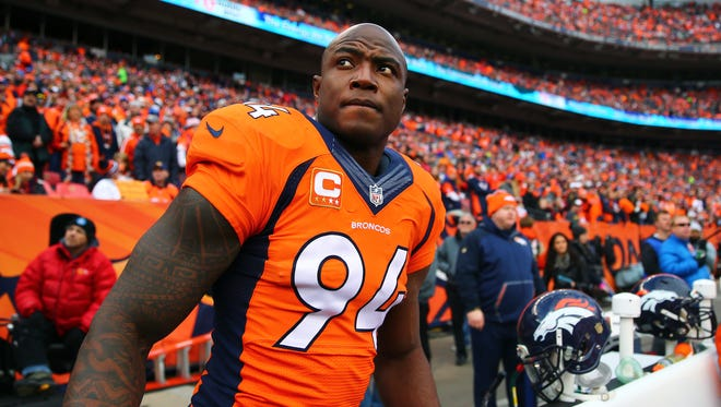 OLB DeMarcus Ware has 17.5 sacks in two seasons with the Broncos.