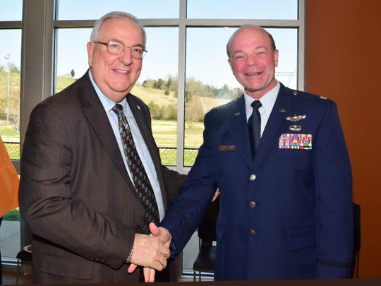 County Law Director Bud Armstrong and Lt. Col. John