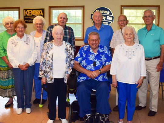 Ten members of the Karns High School class of 1952