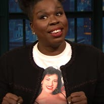 Leslie Jones wears Selena shirt on 'Late Night with Seth Meyers'