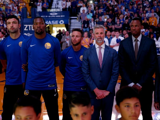 Golden State Warriors guard Stephen Curry (30) stands