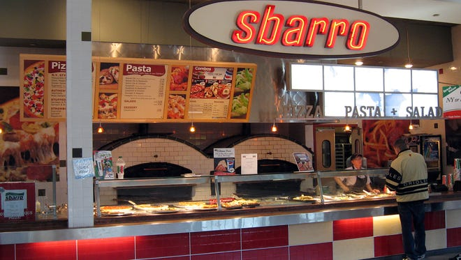 Sbarro closed last month in Coastland Center mall's food court after operating there for at least 20 years.