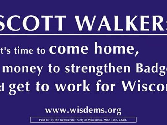 Wisconsin Democrats put up billboards like this in