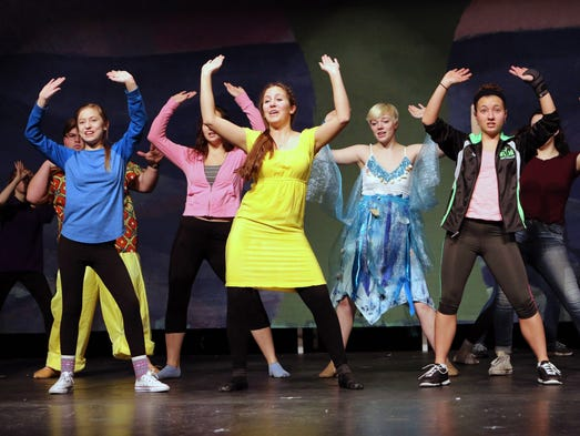 KM Perform students Grace Gerhardt (front left) and