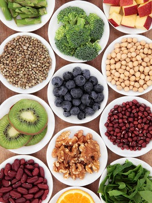 High-fiber, plant-based carbs and proteins — like fruits, vegetables, beans, lentils and brown rice — are good for gut health.
