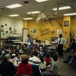 Through a program in the 1990s called the 21st Century Learning Challenge, a Kodak volunteer helped a fifth-grader who wanted to be a paleontologist build this life-sized pteranodon.