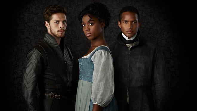 Wade Briggs, left, Lashana Lynch and Sterling Sulieman star in ABC's 'Still Star-Crossed.'