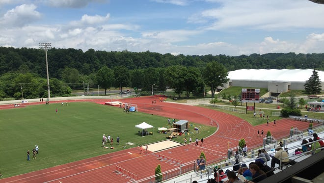 The state track meet takes place at Radford University at Cupp Stadium,