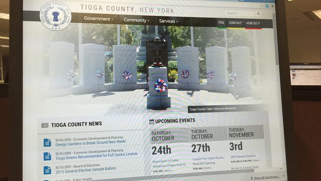 The newly redesigned TIoga County website.